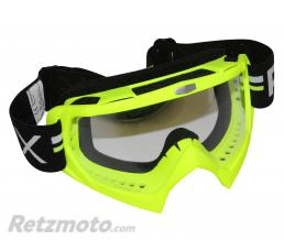 ADX LUNETTE-MASQUE CROSS ADX MX JAUNE FLUO ECRAN TRANSPARENT ANTI-RAYURES