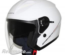 MT HELMETS CASQUE JET MT BOULEVARD SV DOUBLE ECRANS BLANC BRILLANT XL