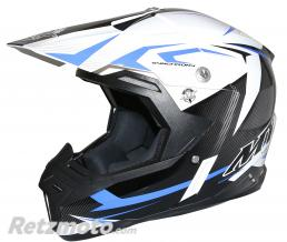 MT HELMETS CASQUE CROSS ADULTE MT SYNCHRONY STEEL NOIR-BLANC-BLEU  S