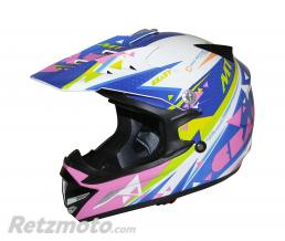 MT HELMETS CASQUE CROSS ENFANT MT MX2 CRAZY MULTICOLOR  YS (49 à 50cm)