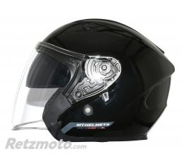 MT HELMETS CASQUE JET MT AVENUE SV UNI DOUBLE ECRANS NOIR BRILLANT  S