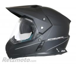 CASQUE CROSS ADULTE MT SYNCHRONY SV DUOSPORT SOLID DOUBLE ECRANS NOIR MAT  S