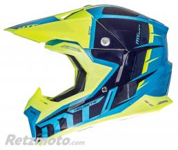 MT HELMETS CASQUE CROSS ADULTE MT SYNCHRONY SPEC BLEU-JAUNE FLUO  S