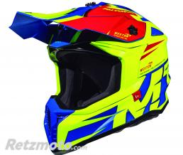 MT HELMETS CASQUE CROSS ADULTE MT FALCON WESTON JAUNE BRILLANT XXL (BOUCLE DOUBLE D)