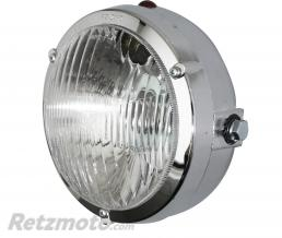 PRO CONCEPT PHARE-PROJECTEUR CYCLO ADAPTABLE PEUGEOT 103 ROND DIAM 103mm CHROME (P26s + TEMOIN)