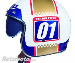 MT HELMETS CASQUE JET MT LE MANS 2 SV NUMBERPLATE BLANC/OR NACRE BRILLANT L