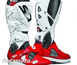 BOTTES MOTO SIDI CROSSFIRE 3 SRS NOIR/ROUGE/BLANC TAILLE 45