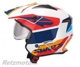 SWAPS Casque Jet S769 TROOPER - Blanc Rouge Bleu S