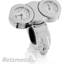 CUSTOM ACCESS THERMOMÈTRE ET MONTRE FOND BLANC OU NOIR FIXATION GUIDON CUSTOM