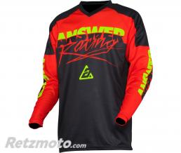 ANSWER Maillot ANSWER Syncron Pro Glow Red/Black/Hyper Acid taille XS