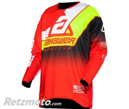 ANSWER Maillot ANSWER Elite Korza Red/White/Hyper Acid/Black taille M
