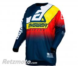 ANSWER Maillot ANSWER Elite Korza Midnight/White/Pro Yellow/Red taille XL