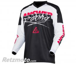 ANSWER Maillot ANSWER Syncron Pro Glow Junior White/Black/Pink taille YL