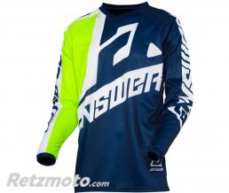 ANSWER Maillot ANSWER Syncron Voyd Midnight/Hyper Acid/White taille XL