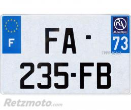 RETZMOTO Plaque immatriculation Moto Homologuée 100% (210x145) PVC