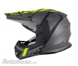 FIRST RACING CASQUE CROSS ADULTE FIRST RACING K2 GRIS-FLUO-NOIR S