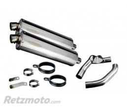 DELKEVIC SILENCIEUX ECHAPPEMENT HONDA CBR1000F 87-99 450MM OVALE INOX