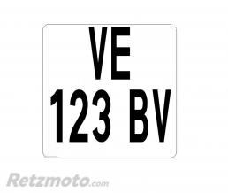 RETZMOTO Plaque immatriculation Moto Enduro(100x100) PVC