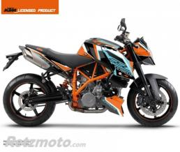 KUTVEK KIT DECO MOTO CRUX KTM SUPER DUKE 990 ORANGE BLEU