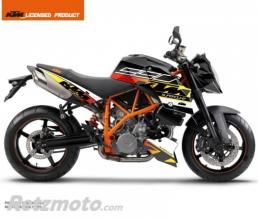 KUTVEK KIT DECO MOTO MASS KTM SUPER DUKE 990 NOIR JAUNE