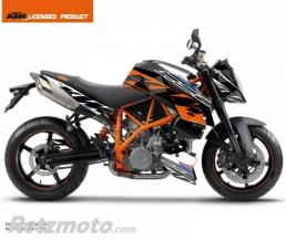 KUTVEK KIT DECO MOTO SPRING KTM SUPER DUKE 990 BLANC ORANGE