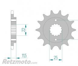 AFAM Pignon AFAM 14 dents acier standard pas 520 type 52400 Ducati 400 Supersport