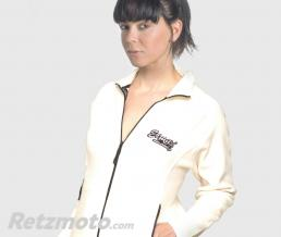 ERMAX VESTE MICROPOLAIRE ERMAX FEMME BLANCHE BRODEE GRIS TAILLE M OU L