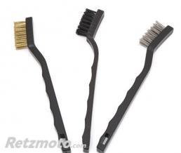 BRAZOLINE Lot de 3 Brosses de nettoyage (chaine, etc...)