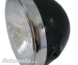 BRAZOLINE Phare BRITISH STYLE 2 - NOIR et CHROME