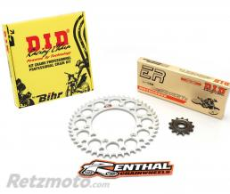 DID Kit chaîne D.I.D/RENTHAL 520 type ERT2 13/49 (couronne ultra-light anti-boue) Kawasaki KX250F