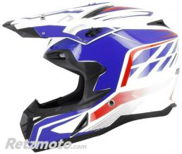 S-LINE Casque cross S820 Blanc Bleu L