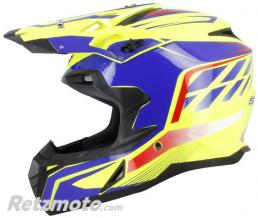 S-LINE Casque cross S820 Jaune Bleu M