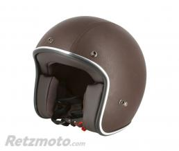 S-LINE Casque jet CafeRacer S210 Cuir Mar XS