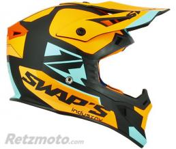 SWAPS Casque cross S818 Blur Noir Orange Bleu S