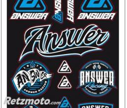 BIHR PLANCHE STICKER ANSWER 240x239mm 13 LOGOS PREDECOUPES