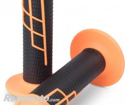 PROTAPER Poignées PT Clamp-On1/2 Waffle - Fluo Orange/Noir-21661
