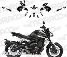 UP Kit Deco YAMAHA MT09 2017 noir-blanc
