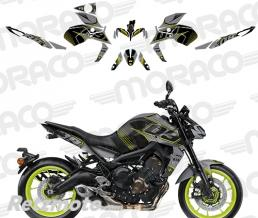 UP Kit Deco YAMAHA MT09 2017 gris-jaune