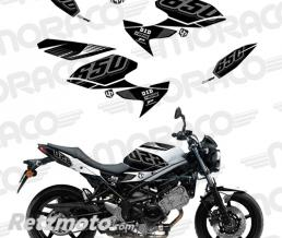 UP Kit Deco UP MAXIMIZE SUZUKI SV650 08->16 noir-blan