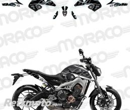UP Kit Deco UP MAXIMIZE YAMAHA MT09 15->17 noir-blanc