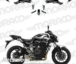 UP Kit Deco UP MAXIMIZE YAMAHA MT07 15->17 noir-blanc