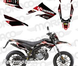 UP Kit Deco UP DRAFT DERBI DRD XTREME 11->16 noir-rou