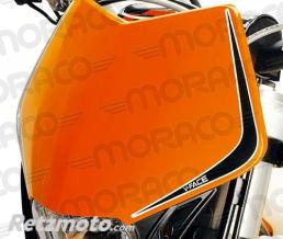 RTECH Plaque phare V face Honda rouge/noir