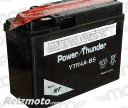 POWER THUNDER Batterie Power Thunder YTR4A-BS