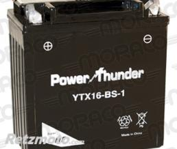 POWER THUNDER Batterie Power Thunder YTX16-BS-1