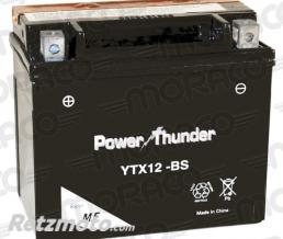 POWER THUNDER Batterie Power Thunder YTX12-BS