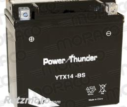 POWER THUNDER Batterie Power Thunder YTX14-BS