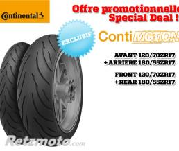 CONTINENTAL Train de pneus CONTINENTAL ContiMotion (120/70 ZR 17 + 180/55 ZR 17)