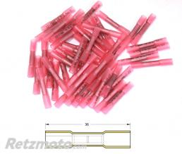 BIHR Bout à bout à sertir thermo-rétractable BIHR Ø0,5/1,5mm² - 50pcs transparent rouge