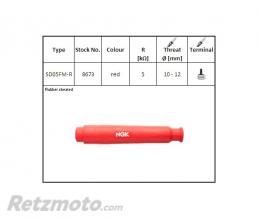 NGK Anti-parasite NGK SD05FM-R rouge pour bougie sans olive